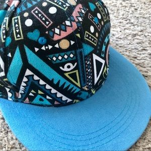 80s style blue baseball cap, size 22 inches